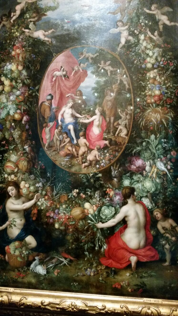 Jan Brurghel and Hendrix van Bale 1620-1622 Garland of Fruit Surrounding a Depiction of Cybele.