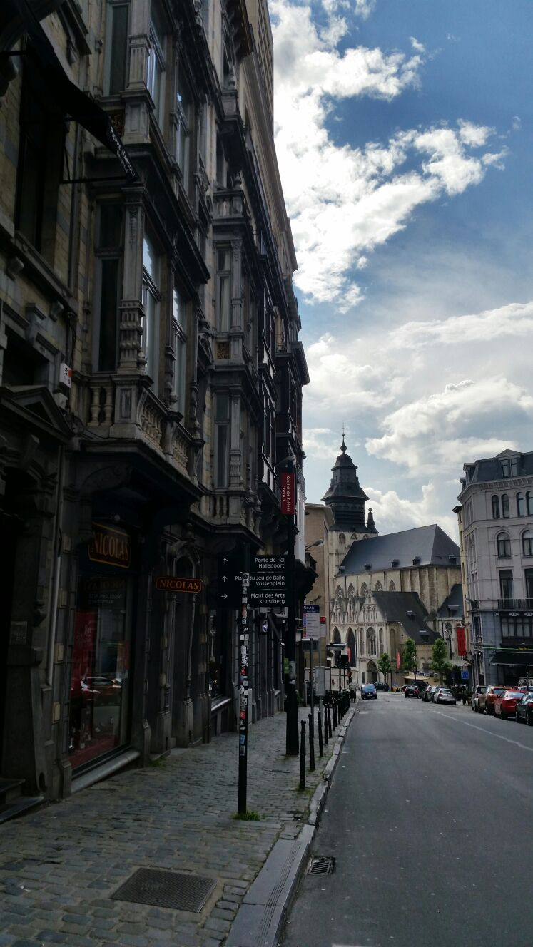 Just another beautiful  street scene in Europe...Brussels