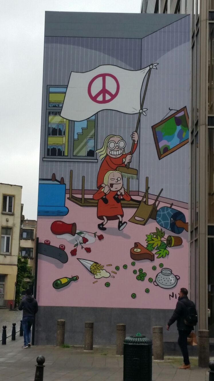 More Brussel street wall art