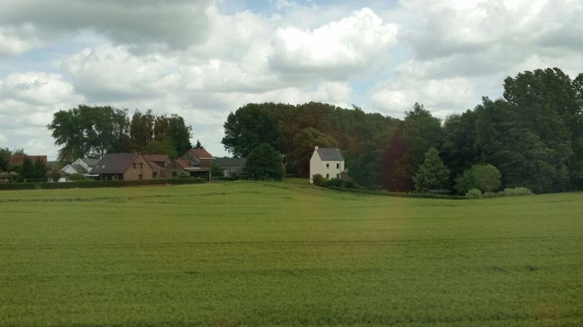 The green fields of a Belgium countryside