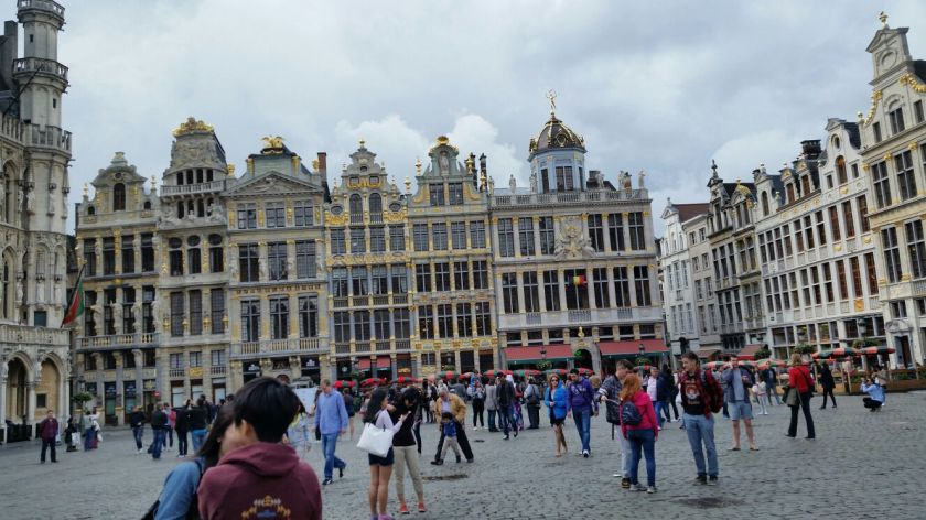 The Grote Market place in Brussels
